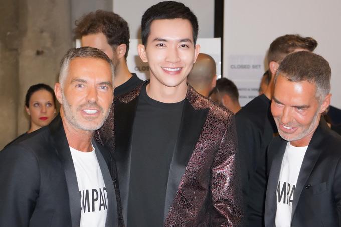 Vu Khac Tiep va ga cu Vo Canh cung du Milan Fashion Week