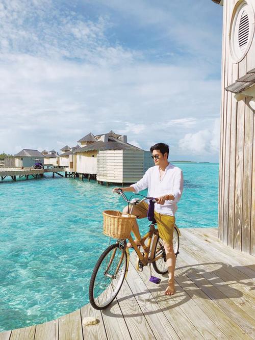 Quang Vinh lịm tim bởi khu resort nổi trên mặt biển ở Maldives - 9