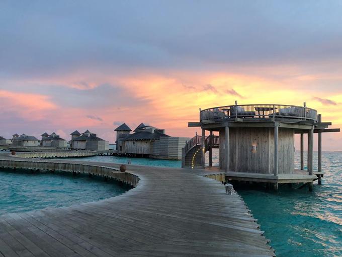 Quang Vinh lịm tim bởi khu resort nổi trên mặt biển ở Maldives - 11