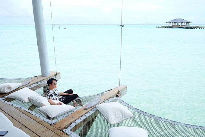 Quang Vinh lịm tim bởi khu resort nổi trên mặt biển ở Maldives - 19