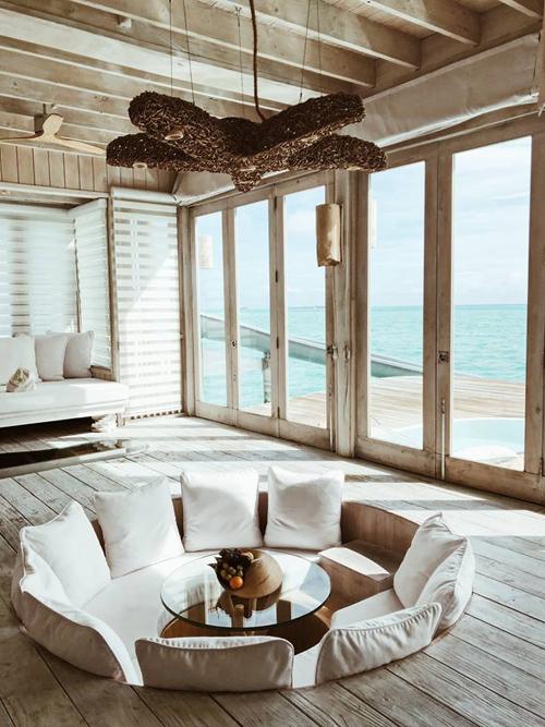 Quang Vinh lịm tim bởi khu resort nổi trên mặt biển ở Maldives - 2
