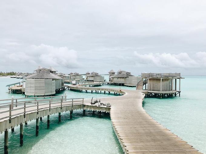 Quang Vinh lịm tim bởi khu resort nổi trên mặt biển ở Maldives - 5