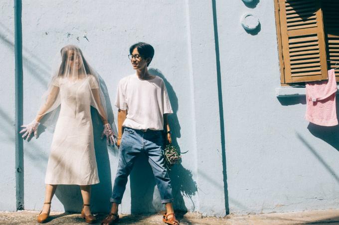 Ảnh cưới ấn tượng của cặp quen nhau từ hồi lớp ba