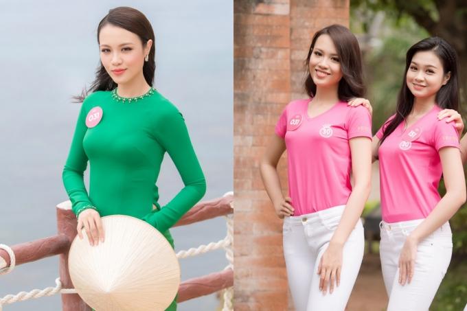 Thủy Tiên nổi bật nhờ gương mặt sáng trong các hoạt động Hoa hậu Việt Nam 2018.