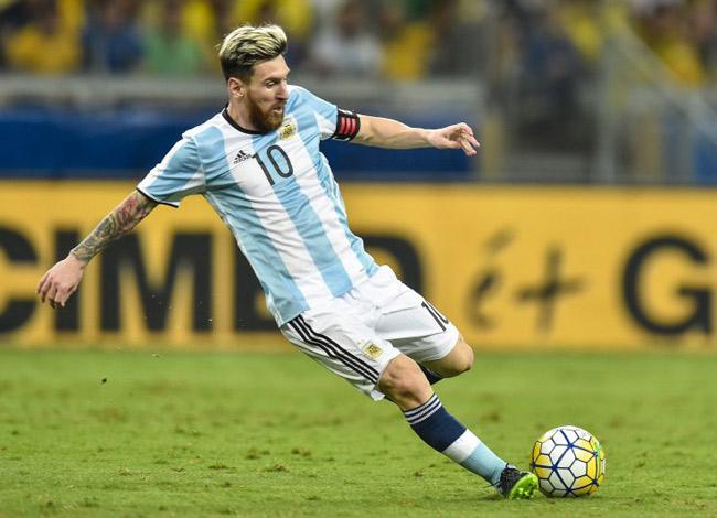 Lionel Messi trong màu áo của đội tuyển quốc gia Arghentina. Ảnh: Sport.