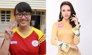Biến đổi nhan sắc của thí sinh Hoa hậu VN từng nặng 90 kg