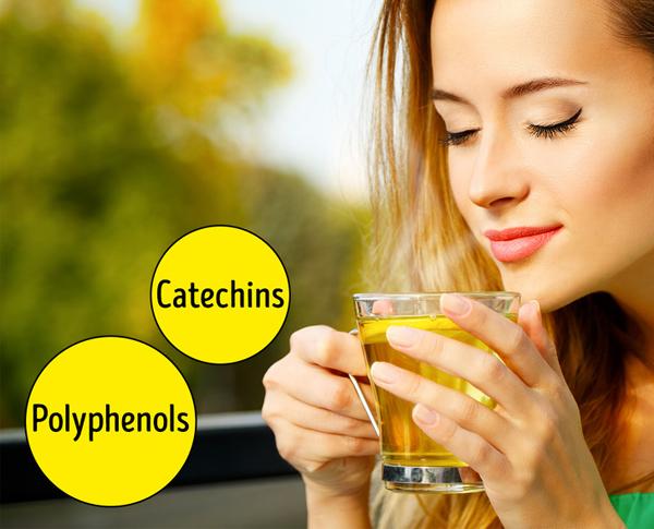 Trà xanh polyphenol và catechin - chất chống oxy hóa giúp bảo vệ làn da khỏi bị tổn thương do ánh nắng mặt trời