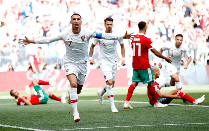 C. Ronaldo ghi bàn duy nhất, Bồ Đào Nha thắng trận thứ hai
