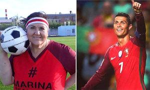Fan nữ 45 tuổi giảm được 90kg, mong làm bạn gái C. Ronaldo