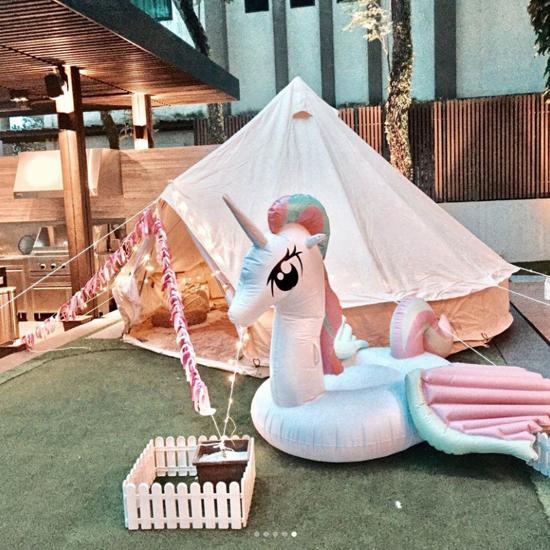 Ca si Hong Kong to chuc tiec sinh nhat cho con gai trong biet thu 12 trieu USD