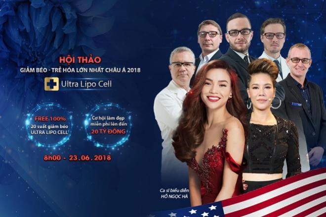 Hội thảo có sự góp mặt Hà Hồ, Thu Phương, MC Nguyên Khang và hơn 20 chuyên gia làm đẹp.
