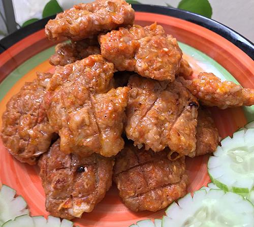 Món thịt viên nướng thành phẩm. Ảnh: Nguyễn Tâm