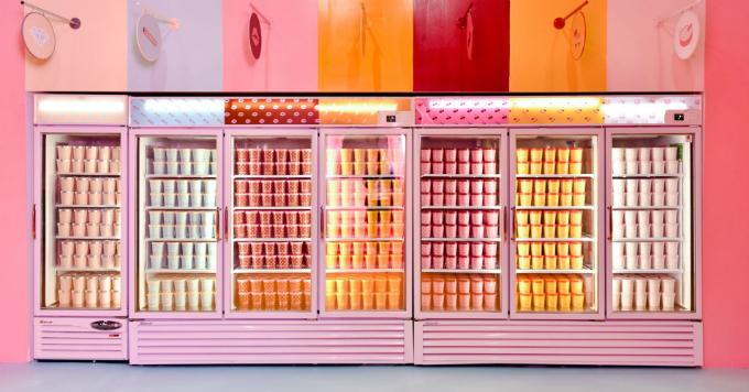 Quầy kem bắt mắt tại The Pint Shop, không gian cố định đầu tiên mới khai trương thuộc bảo tàng. Ảnh:The Pint Shop.