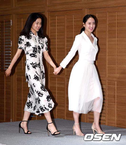 Đồng hành cùng Kim Tae Ri là bạn diễn nữ Kim Min Jung.