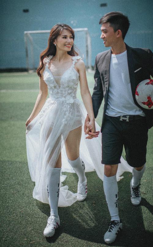 Ảnh cưới bên trái bóng lăn của đôi trẻ Bình Phước - 2