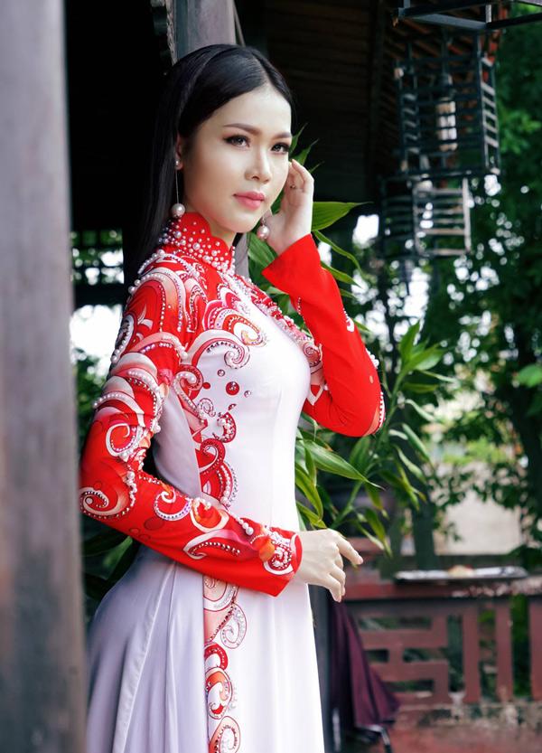 Hoa hậu, Á hậu biển Việt Nam toàn cầu đọ dáng với áo dài - 2
