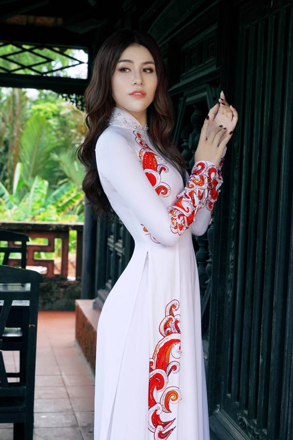 Hoa hậu, Á hậu biển Việt Nam toàn cầu đọ dáng với áo dài - 4