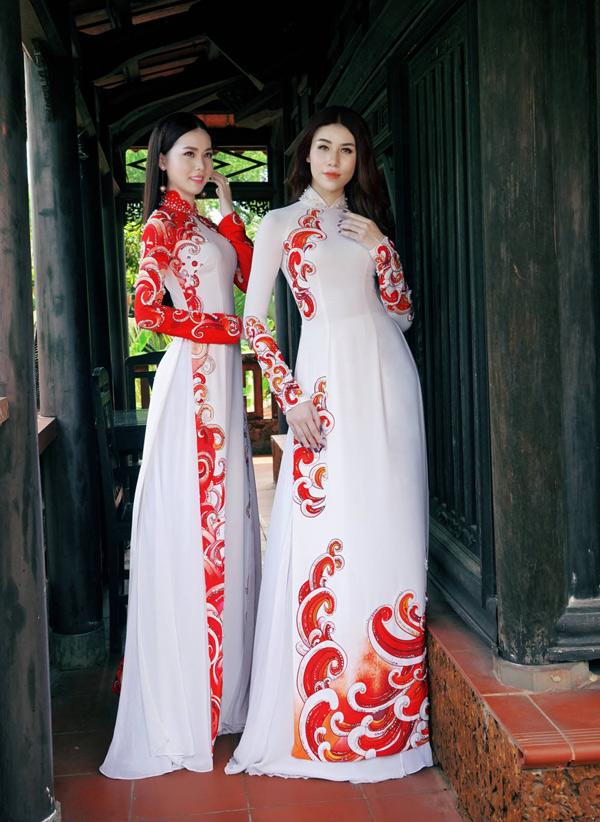 Hoa hậu, Á hậu biển Việt Nam toàn cầu đọ dáng với áo dài - 6