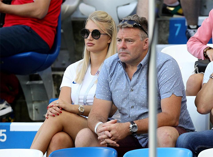 Jack Butlands fiance Annabel Peyton watched from the stands despite the Stoke keeper not playing