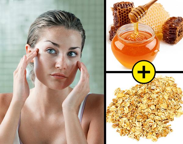 Hạn chế da tiết dầu Để làn da không bóng nhẫy dầu thừa trong mùa hè, hãy sử dụng bột yến mạch trộn với mật ong làm mặt nạ, đắp lên da khoảng 20 phút. Thực hiện hai lần mỗi tuần để có hiệu quả tốt nhất.