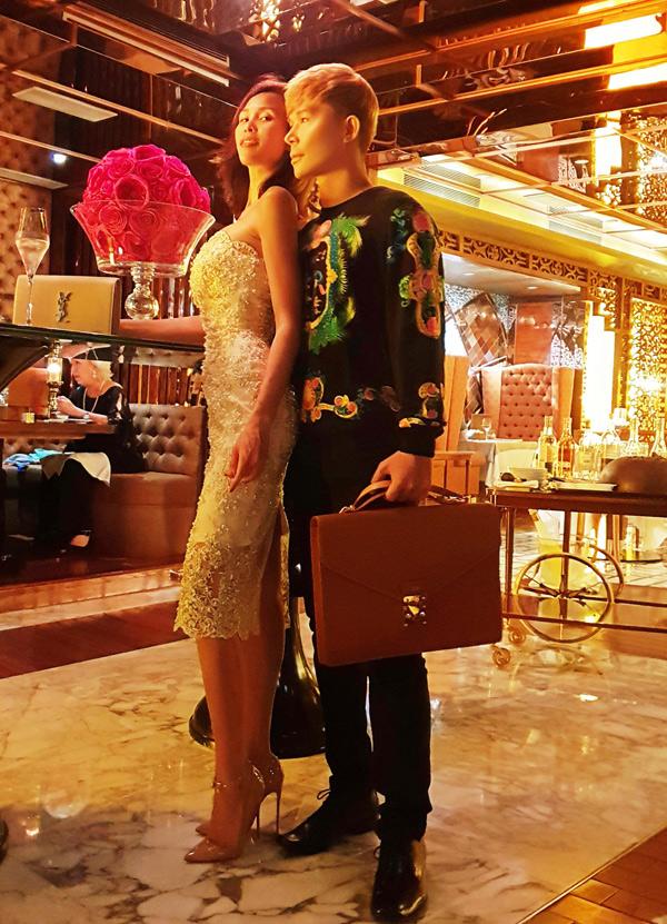Nathan Lee to chuc sinh nhat cho Phuong Mai o khach san 5 sao