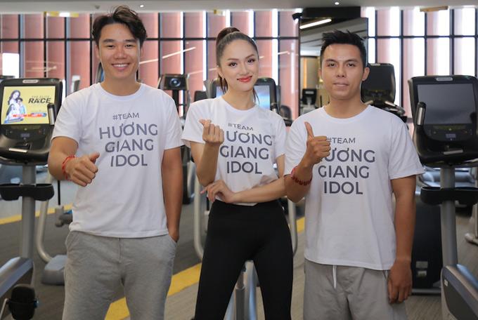 Vo chong ca nuong Kieu Anh choi gameshow thang Hoa hau Huong Giang