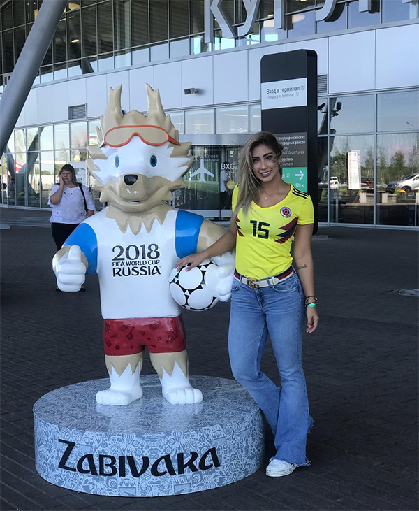 Như nhiều nàng WAGs khác,Cindy Alvarez cũng tới Nga để cổ vũ cho ông xã ở World Cup 2018.