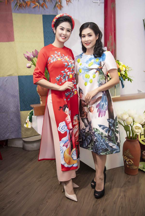 Hong Que dua con gai di su kien sau on ao voi Huong Giang