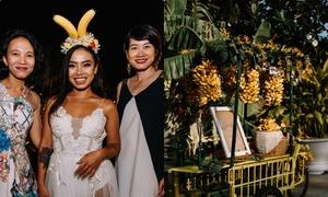 Đám cưới 'Cộng hòa chuối' của cặp quen nhau từ cú bóng ném