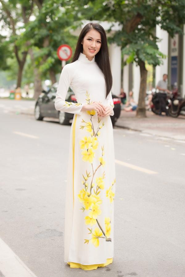 Vòng thi sơ khảo miền Bắc thu hút nhiều gương mặt quen thuộc. Trong ảnh là người đẹp VũThị Tuyết Trang, từng lọt top 15 Hoa hậu Hoàn vũ Việt Nam 2017.