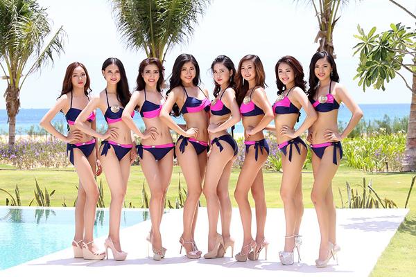 Dàn thí sinh xinh đẹp mùa giải đầu khoe dáng với bikini.