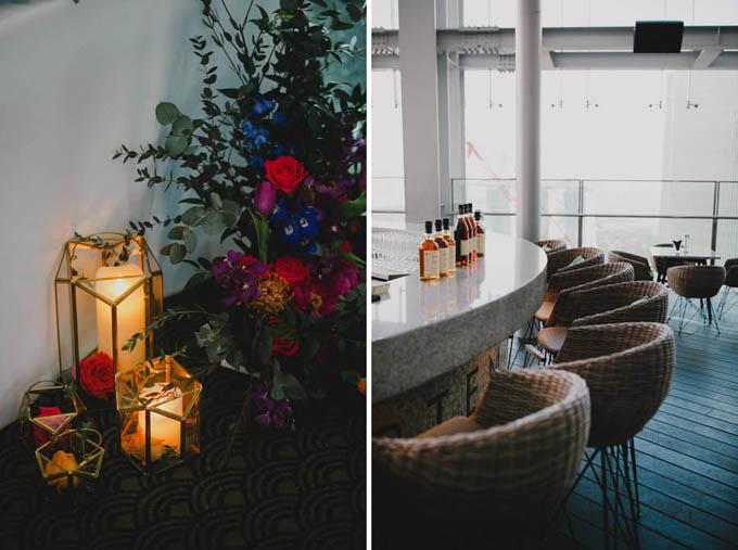 Hoa hồng được chọn làm loài hoa chủ đạo cho đám cưới của uyên ương Singapore. Cặp vợ chồng còn trang trí tiệc cưới bằng nến để không gian thêm lãng mạn, huyền ảo.