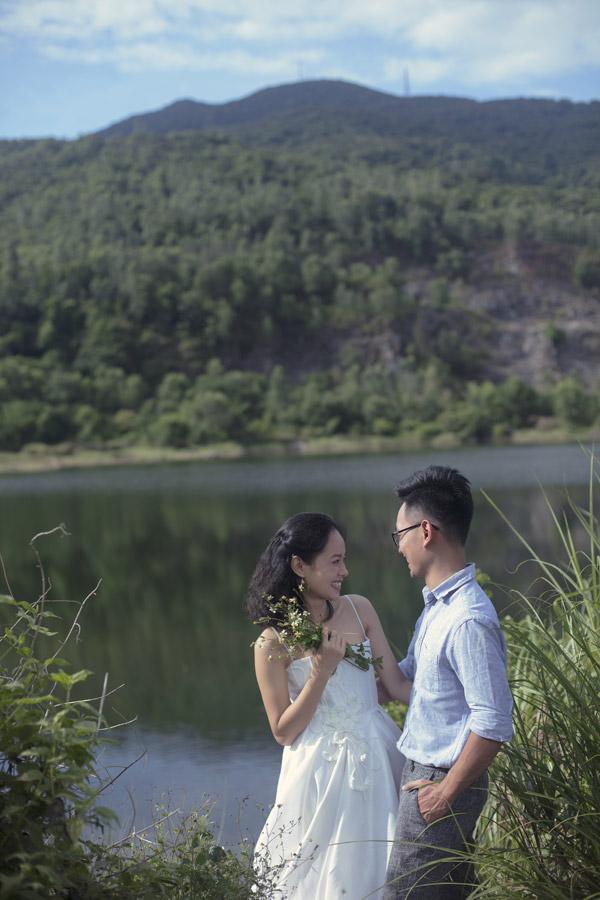 Ảnh cưới của Hoàng Quyên và chồng kiến trúc sư