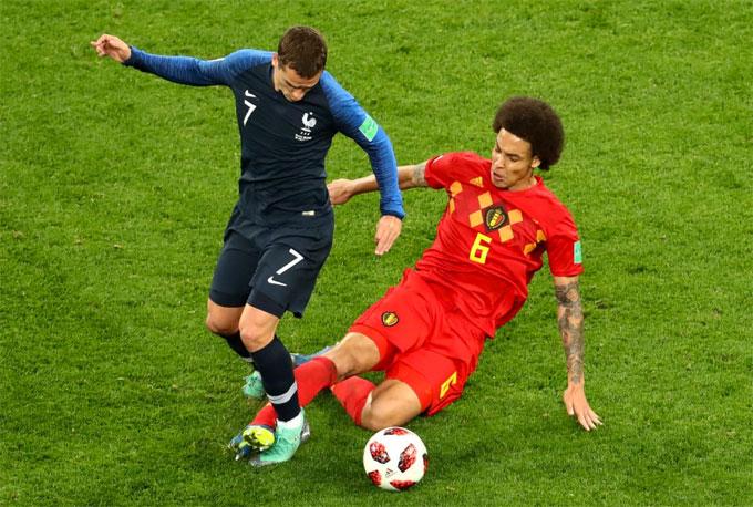 Pháp chơi trận đấu hay nhất từ đầu giải để hạ Bỉ. Ảnh: FIFA.