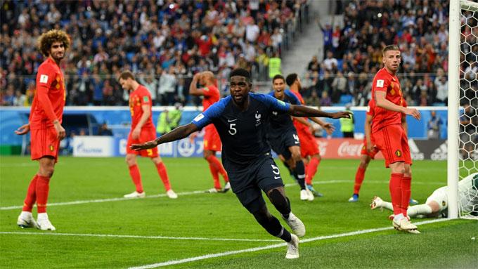 Umtiti ghi bàn duy nhất của trận đấu. Ảnh: FIFA.