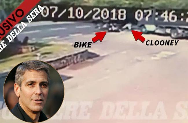 Đâm vào ôtô, George Clooney bị hất tung lên trời 6m
