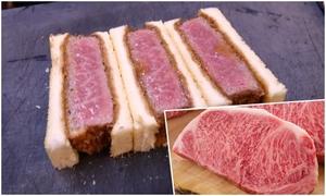 Sandwich bò Wagyu Nhật Bản - đồ ăn nhanh giá nhà hàng Michelin