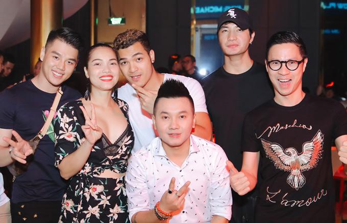 Quách An An mặc hở bạo đi tiệc cùng người mẫu Vũ Tuấn Việt - ảnh 3