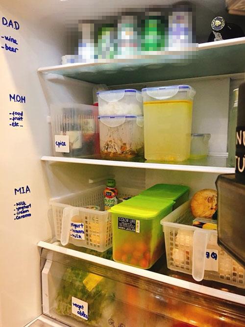 Bà mẹ Hà Nội được khen nhờ cách quy hoạch tủ lạnh ngăn nắp, gọn gàng - ảnh 2
