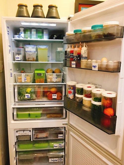 Bà mẹ Hà Nội được khen nhờ cách quy hoạch tủ lạnh ngăn nắp, gọn gàng - ảnh 1