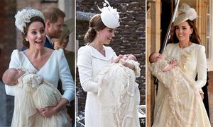 Lý do Kate luôn mặc váy màu trắng kem trong lễ rửa tội của cả 3 con