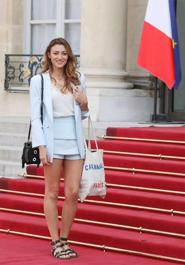 Former Miss France Rachel Legrain-Trapani, girlfriend of right-back Benjamin Pavard, was also in attendance