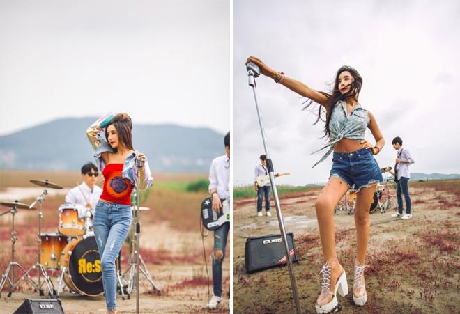 Hình ảnh mới củaHarisu nhằmquảng bá cho sản phẩm âm nhạc vừa ra mắt.