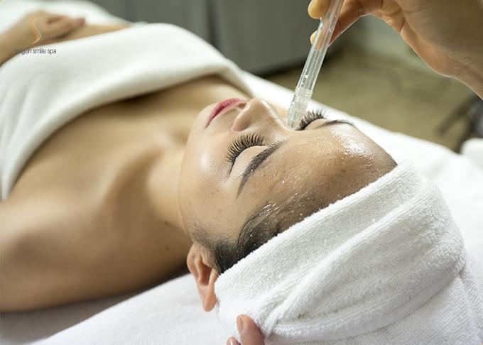 Nướclen lỏi vào từng tế bào, giúp da được căng mịn, trở nên sáng hơn, rạng rỡ hơn vớicông nghệ phun oxy tươi tinh khiết.