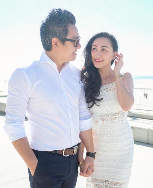 Ảnh cưới lãng mạn của hoa khôi áo dài và chồng Việt Kiều