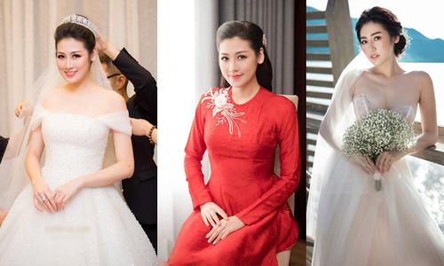 Váy, áo dài cưới 'đẹp từng centimet' của Á hậu Tú Anh