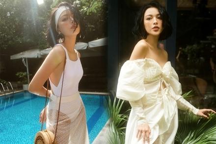 Tú Hảo gợi ý 3 kiểu trang phục sành điệu ở hồ bơi