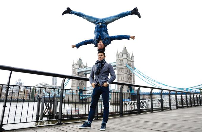 Quốc Cơ chia sẻ, hai anh em muốn tập luyện mọi lúc, mọi nơi và ghi lại những kỷ niệm đẹp trong thời gian ở Anh dự thi Britains Got Talent.