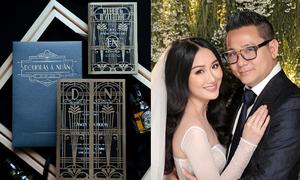 Top 6 Hoa khôi áo dài chia sẻ về thiệp cưới phong cách Gatsby