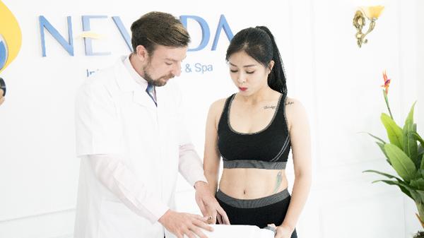 MC Hoàng Linh trải nghiệm giảm cân tại viện thẩm mỹ Nevada